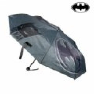 Batman - Foldbar Paraply - 53 Cm - Grå Sort