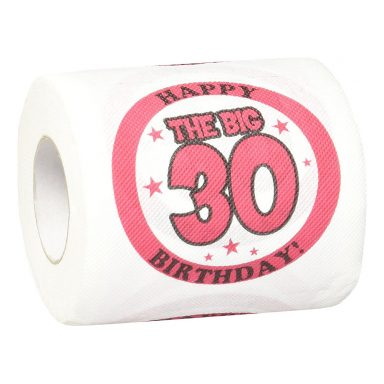 Toiletpapir Happy Birthday 30/40/50 år - 30 år