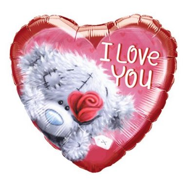 I Love You Bamse Folieballon - 45 cm