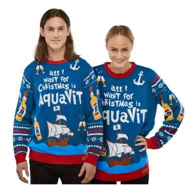 All I Want is Aquavit Julesweater - Medium